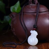 Jade pendant necklace - Exquisite Hetian Jade Money bag necklace - necklaces for women - Handmade Jewelry
