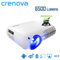Crenova XPE660 LCD Projector 6500 Lumens 1920*1080 1080P 4K LED Video Projector Home Theater Cinema Android 6.0 OS Version