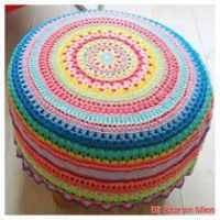 crochet pouf, poufs and crochet.