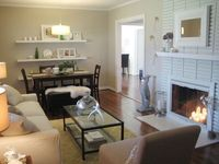 We whipped up an easy fireplace painting tutorial to show just how easy a mantel makeover really is. Happy painting...