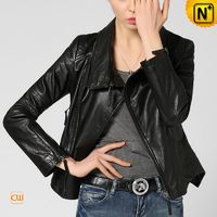 CWMALLS Black Leather Biker Jackets CW650036