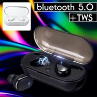 [Bluetooth 5.0] TWS Wireless Earphone Noise Cancelling Stereo Bilateral Calls Headphone with Charging Box