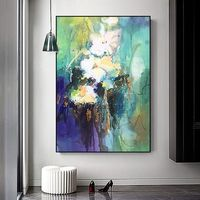 Flower oil painting Original palette knife white canvas Painting Wall Art wall Pictures Home Decor hand painted quadro cuadros abstractos $79.00