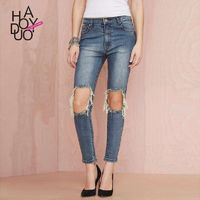 Vogue Ripped Slimming Summer Chic Jeans - Bonny YZOZO Boutique Store