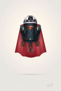 We all love a good mash-up and this one by illustrator Steve Berrington ranks right up there as one of the best. Taking the beloved Star Wars character, R2-DR,