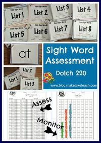 Assessment and progress monitoring of the Dolch sight words. Great for RtI!