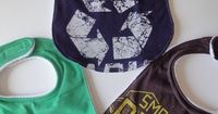Baby Gifts - upcycled t-shirt bibs