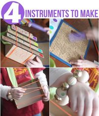 The Making Music activity kit from Kiwi Crate is full of instruments for kids to make! Time to make some music!