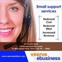 Vserve offers instant email support service, with a qualified team of professionals .Outsource our email support service, add value for your business  To know more, kindly check this: https://www.vservesolution.com/email-support.php
