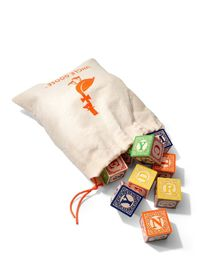 Classic ABC Blocks with Canvas Bag by Uncle Goose at Gilt