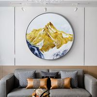 Gold art Mountain painting Abstract Paintings on canvas landscape wall pictures textured painting framed wall art cuadros abstractos $609.00