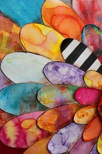 Make patterns on paper then cut petals. So pretty. Great watercolor project.