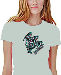 Salmon Shirt is a Pacific NW Indian Art Design. These images are historical carvings, paintings. A Unisex Style, Jersey, Short Sleeve Tee. $24.00