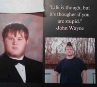 The John Wayne Quote:   The 38 Absolute Best Yearbook Quotes From The Class Of 2014