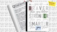 250 Quarantine Writing Prompts   Daily Prompted Writing Journal $9.74