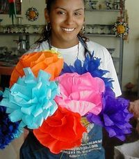 Easy to make Mexican Paper flowers - great for any celebration from Dia de los muertos to Cinco de mayo!