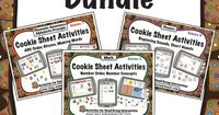 3 Volumes of Cookie Sheet Activities designed to teach early literacy and math skills--beginning sounds, alphabetic order, rhyme, number order, and number concepts.
