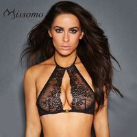 Vogue Sexy Seen Through Hollow Out Halter Lace Black Underwear Bra - Bonny YZOZO Boutique Store