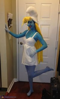 Alysa: I have wanted to make a homemade Smurfette costume for a while now and decided that it was the perfect year since the Smurf movie had just come out. The.