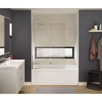 MAAX Axial Duo 42 in. x 58 in. Frameless Fixed Tub Door in Chrome - 137512-900-084-000 - The Home Depot