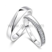 High Quality Cubic Zirconia Silver Matching Rings Custom Engraving https://www.gullei.com/high-quality-cubic-zirconia-silver-matching-rings-custom-engraving.html