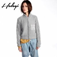 Fall 2017 new ladies fashion simple letter patch high neck sweater women - Bonny YZOZO Boutique Store