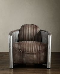 Aviator Chair in Distressed Whiskey by Restoration Hardware