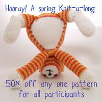 We're having a spring knit along over in my ravelry group (http://www.ravelry.com/discuss/browneyedbabs-knits/2524103). Come join in and get 50% off any one pattern this April.