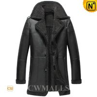 Men Leather Coat   CWMALLS® Nuuk Sheepskin Coat CW858117[Father's Day Gifts, Custom Made]