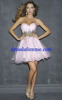 Night Moves 6820 Short Pink Lace Beaded Dresses 2013
