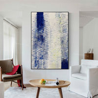Abstract Large painting acrylic navy blue white paintings on canvas Wall Pictures extra large framed wall art texture painting $123.75