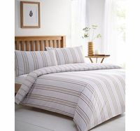 Bhs Taunton Natural Stripe Essential Bedding Set, Stylish and simple natural stripe bedding set. Our essentials printed bedding range is now made using a new and improved quality 50/50 polycotton as well as becoming better value.Fibre Composition: 50 http...
