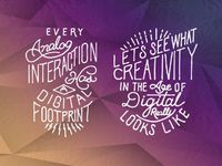 """I was honored to be commissioned by Adobe's social marketing team to make 7 typographic pieces for """"Summit, the digital marketing conference"""" to represent guest"""