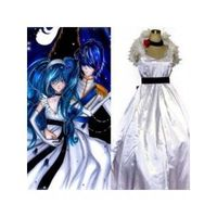 Vocaloid Hatsune Miku Cendrillon White Dress Cosplay Costume
