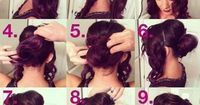 How to: messy bun hair style.