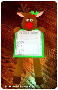 If I were a reindeer....oh my this would be so cute in the classroom