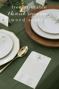 "Thanksgiving Activities �€"" Printable Word Search"