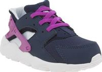 Nike Navy Huarache Run Girls Toddler Allow Nike to kit out your mini sneakerheads with another retro profile. Downsized for kids, the Huarache Run features a navy man-made upper featuring tonal purple accents for a girly vibe. Elasticate http://www.compar...