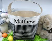 Easter Basket - Houndstooth $17.00