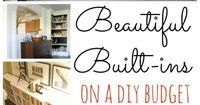 Taking a home from builder grade to custom? Try adding built ins they will make anything better!