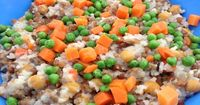 Cody's Blend Homemade Dog Food Recipe combines plenty of healthy ingredients: ground turkey, lentils, peas, carrots and split peas. Easy and delicious!