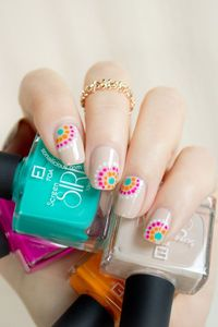 Easy Summer Nail Design with FOA Screen Siren