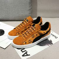 MCM x PUMA Suede Classic Visetos Low Top Sneakers In Brown