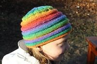 No pattern , inspiration for rainbow hat