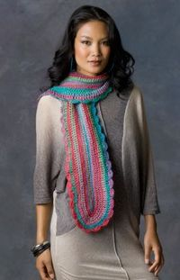 Learn Your Stitches Scarf Free Crochet Pattern from Red Heart Yarns