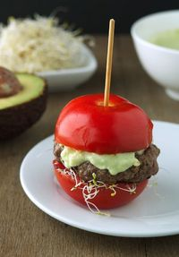 Tomato Avocado Burgers (Low Carb and Gluten-Free)