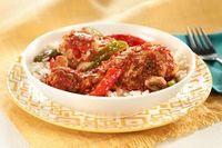 Slow-Cooker Chicken Cacciatore recipe..might try with boneless skinless chicken breast over noodles