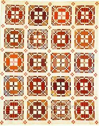 "Pieced Quilt ""Road To California"" 1875 Pennsylvania"