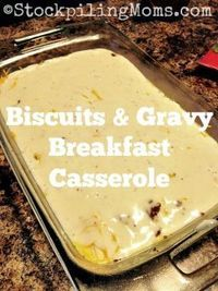 Biscuits & Gravy Breakfast Casserole is out of this world, mouth watering goodness! Yes I liked it that much and so did my family. They have already requested f