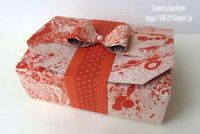 Tutorial for a quick and easy paper bow using envelope punch board